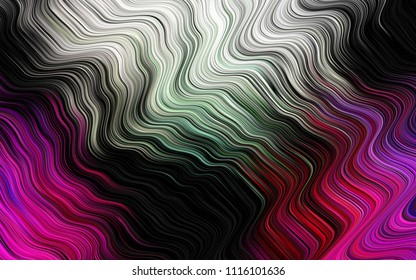 Dark Multicolor, Rainbow vector template with bubble shapes. Creative illustration in halftone marble style with gradient. Pattern for your business design.