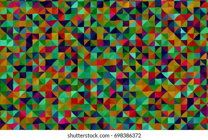 Dark Multicolor, Rainbow vector triangle mosaic pattern. A completely new color illustration in a vague style. A completely new design for your business.