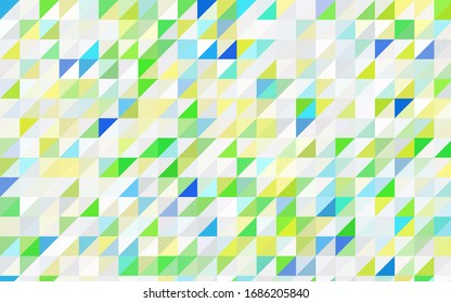 Dark Multicolor vector abstract colorful background, which consist of triangles. Pattern with colored triangles on white background.