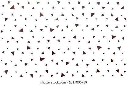Dark Multicolor vector geometric simple minimalistic background, which consist of triangles on white background. Triangular pattern with gradient for your business design.