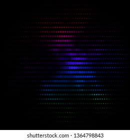 Dark Multicolor vector layout with circles. Illustration with set of shining colorful abstract spheres. Pattern for business ads.