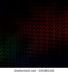Dark Multicolor vector layout with lines. Repeated lines on abstract background with gradient. Pattern for booklets, leaflets.
