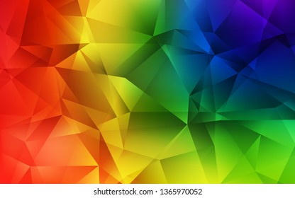 Dark Multicolor vector low poly layout. Colorful illustration in abstract style with triangles. Template for cell phone's backgrounds.