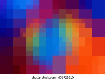 Dark Multicolor vector polygonal illustration, which consist of rectangles. Rectangular design for your business. Creative geometric background in Origami style with gradient