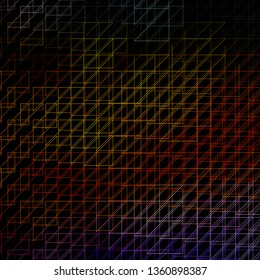 Dark Multicolor vector template with lines. Colorful gradient illustration with abstract flat lines. Template for your UI design.