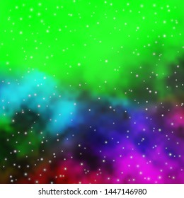 Dark Multicolor vector texture with beautiful stars. Modern geometric abstract illustration with stars. Best design for your ad, poster, banner.
