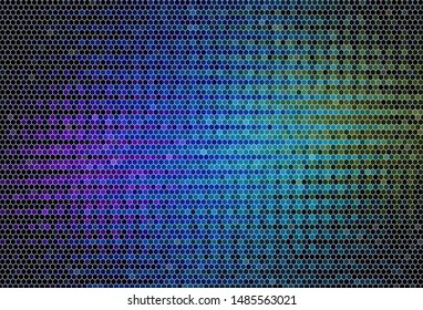 Dark Multicolor vector texture with colorful hexagons. Abstract illustration with colorful hexagons. Pattern for ads, leaflets.