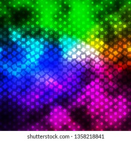 Dark Multicolor vector texture in rectangular style. Modern design with rectangles in abstract style. Pattern for busines booklets, leaflets
