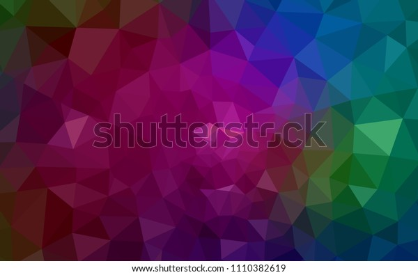 Dark Multicolor vector triangle mosaic cover. Creative geometric illustration in Origami style with gradient. Completely new template for your banner.