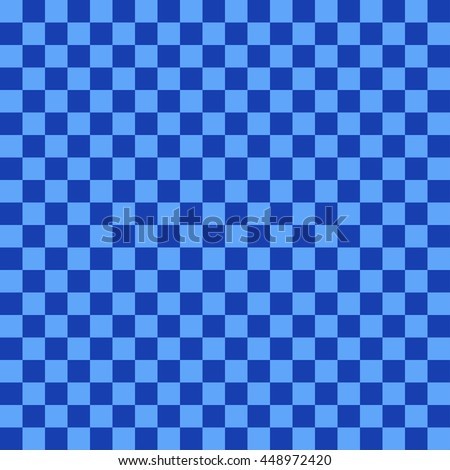 Dark And Navy Blue Chess Checkerboard Background Square Backdrop Vector Seamless Pattern Used