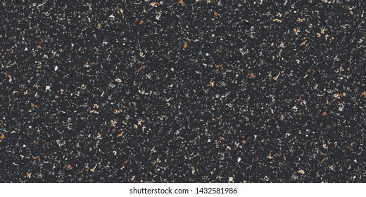 Dark Neutral colored brown beige grungy recycled speckled elements natural terrazzo camouflage textured surface seamless repeat vector pattern. Grunge, cement, concrete.  Gravel.