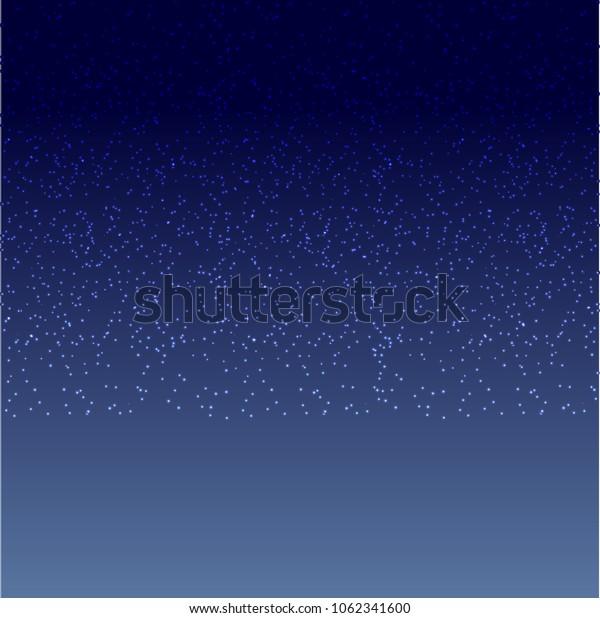 Dark nights sky with bright stars. Vector Illustration
