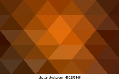 Dark orange abstract mosaic template. Brand-new colored illustration in blurry style with gradient. A completely new template for your business design.