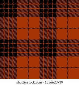 Dark Orange and Black tartan plaid Scottish seamless pattern.Texture from plaid, tablecloths, clothes, shirts, dresses, paper, bedding, blankets and other textile products.
