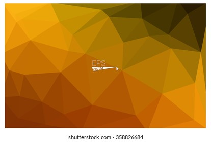 Dark orange geometric rumpled triangular low poly origami style gradient illustration graphic background. Vector polygonal design for your business.