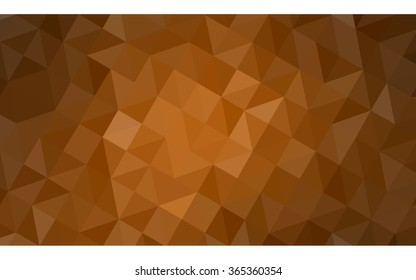 Dark orange polygonal illustration, which consist of triangles. Geometric background in Origami style with gradient. Triangular design for your business in vector.