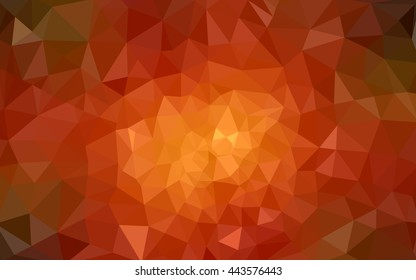 Dark orange polygonal illustration, which consist of triangles. Geometric background in Origami style with gradient. Triangular design for your business.