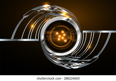 dark orange silver Light Abstract Technology background for computer graphic website internet and business. circuit. vector illustration. infographics. wave.Spark.Metals alloys steel aluminum