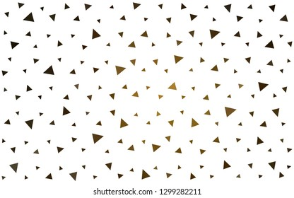 Dark Orange vector  abstract mosaic backdrop. Modern abstract illustration with triangles. Template for cell phone's backgrounds.