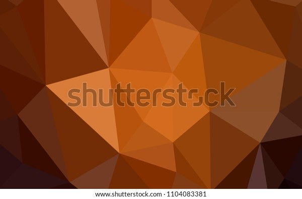 Dark Orange vector abstract mosaic background. Modern abstract illustration with triangles. New template for your brand book.