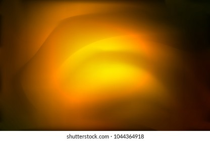 Dark Orange vector background with abstract circles. Geometric illustration in marble style with gradient.  The template for cell phone backgrounds.