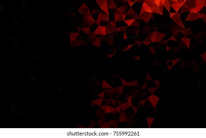 Dark Orange vector blurry triangle pattern. Shining colored illustration in a brand-new style. Triangular pattern for your business design.