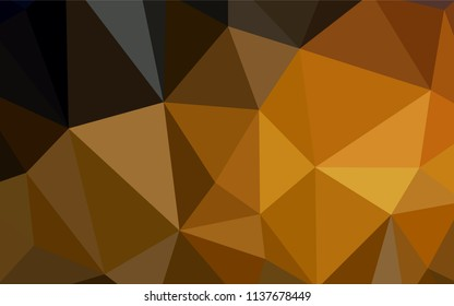 Dark Orange vector low poly texture. Polygonal abstract illustration with gradient. Pattern for a brand book's backdrop.
