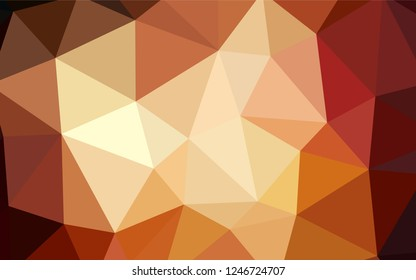 Dark Orange vector low poly cover. Colorful abstract illustration with triangles. Brand new design for your business.
