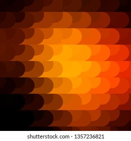 Dark Orange vector pattern with lines. Gradient abstract design in simple style with sharp lines. Template for your UI design.