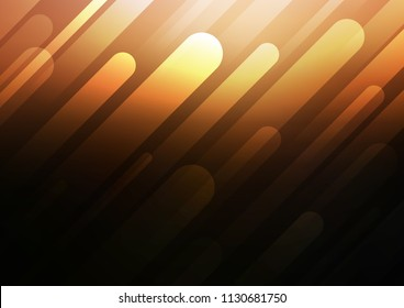 Dark Orange vector pattern with narrow lines. Shining colored illustration with narrow lines. The template can be used as a background.