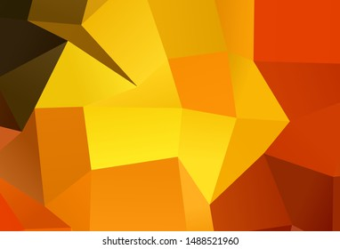 Dark Orange vector pattern in square style. Rectangles on abstract background with colorful gradient. Pattern for commercials.