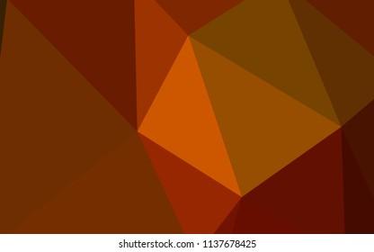 Dark Orange vector polygon abstract layout. Colorful illustration in polygonal style with gradient. Pattern for a brand book's backdrop.