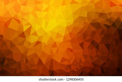 Dark Orange vector polygon abstract layout. A sample with polygonal shapes. Triangular pattern for your design.
