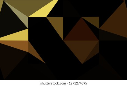Dark Orange vector shining hexagonal template. Geometric illustration in Origami style with gradient.  The polygonal design can be used for your web site.