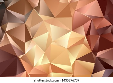 Dark Orange vector template with crystals, triangles. Beautiful illustration with triangles in nature style. Pattern for booklets, leaflets