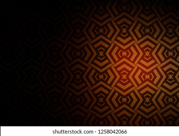 Dark Orange vector template with repeated sticks. Lines on blurred abstract background with gradient. Backdrop for TV commercials.