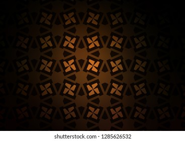 Dark Orange vector template with triangles, squares. Illustration with colorful triangles, rectangles. Pattern for commercials.
