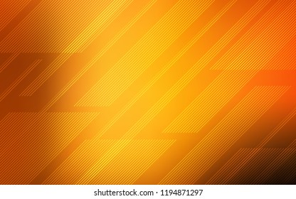 Dark Orange vector texture with colored lines. Blurred decorative design in simple style with lines. Smart design for your business advert.