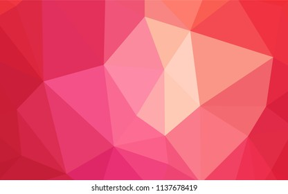 Dark Orange vector triangle mosaic texture. Glitter abstract illustration with an elegant triangles. Brand new style for your business design.