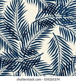 dark palm tree leaves on white background. Tropical palm leaves, jungle leaves, seamless vector floral pattern. Vector illustration. memphis trendy hipster pattern