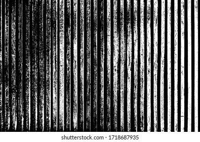 Dark picket fence of raw lumber.Grungy uneven surface of bench. Rural town buildings of cracked faded lath panels.Coarse sawn battens. Chipped ancient garden structure.Rustic modern decor for backdrop