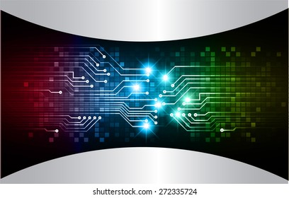dark pink blue green color Light Abstract Technology background for computer graphic website internet and business. circuit. vector illustration. abstract digital . silver.