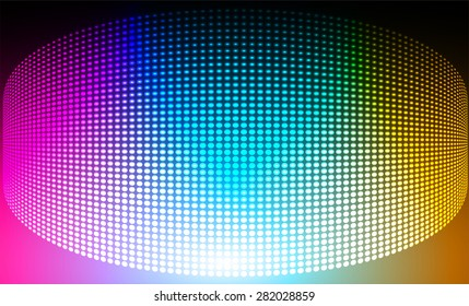 Dark pink blue orange Abstract light lamps background for Technology computer graphic website internet and business.. Screen on stage. Vector illustration. Spot Effect. neon. point. dot