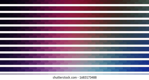 Dark Pink, Blue vector backdrop with lines. Colorful gradient illustration with abstract flat lines. Pattern for websites, landing pages.