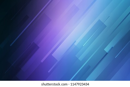 Dark Pink, Blue vector background with straight lines. Shining colored illustration with sharp stripes. Pattern for your busines websites.
