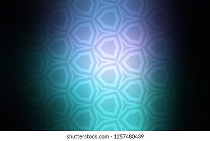 Dark Pink, Blue vector background with hexagons. Abstract illustration with colorful hexagons. New template for your brand book.
