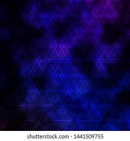 Dark Pink, Blue vector background with lines, triangles. Gradient triangles in abstract style on simple form. Design for your promotions.