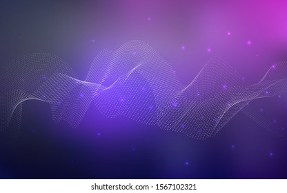 Dark Pink, Blue vector background with dots. Blurred decorative design in abstract style with bubbles. The pattern can be used for beautiful websites.