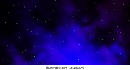 Dark Pink, Blue vector background with colorful stars. Colorful illustration in abstract style with gradient stars. Pattern for wrapping gifts.