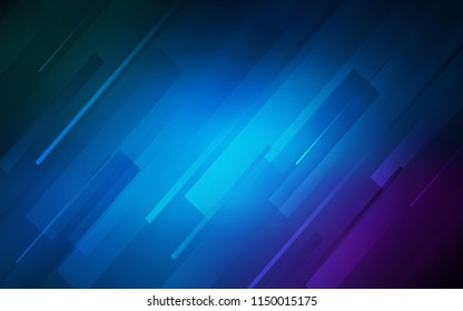Dark Pink, Blue vector cover with stright stripes. Modern geometrical abstract illustration with Lines. Pattern for your busines websites.